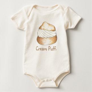 Vanilla Cream Puff Puffs Creampuff Baby Suit Baby Bodysuit