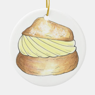 Vanilla Cream Puff Puffs Creampuff Foodie Ornament
