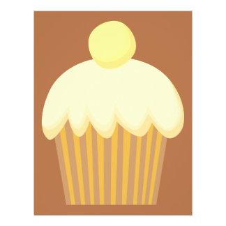 Vanilla Cupcake on Brown. Custom Flyer