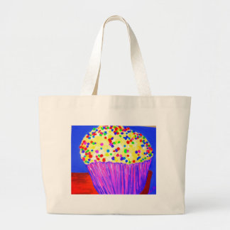 """Vanilla Cupcake With Sprinkles"" Large Tote Bag"