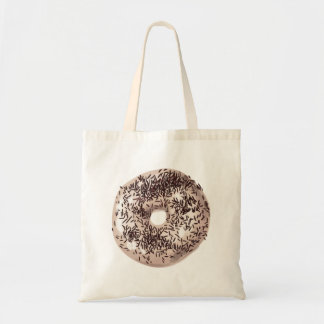 Vanilla Dipped with Chocolate Sprinkles Doughnut Tote Bag