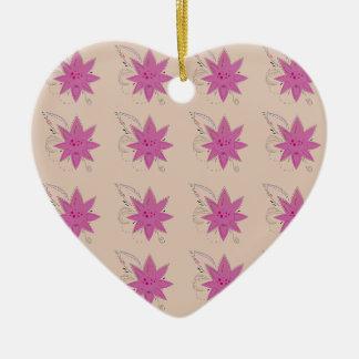 Vanilla ethno summer Lotus flowers Ceramic Ornament