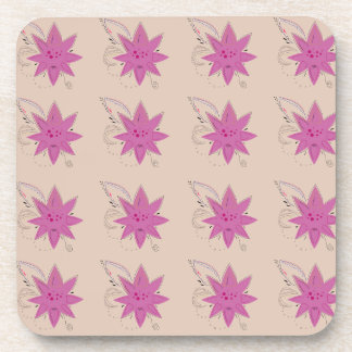 Vanilla ethno summer Lotus flowers Coaster