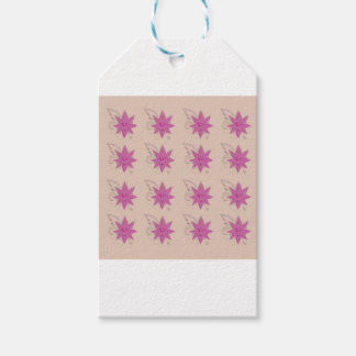 Vanilla ethno summer Lotus flowers Gift Tags