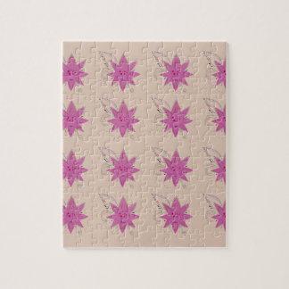 Vanilla ethno summer Lotus flowers Jigsaw Puzzle