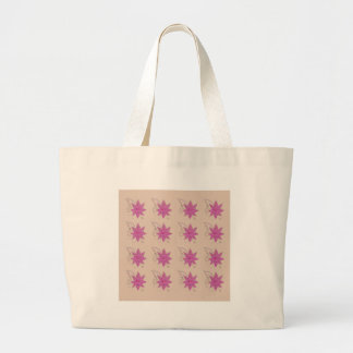 Vanilla ethno summer Lotus flowers Large Tote Bag