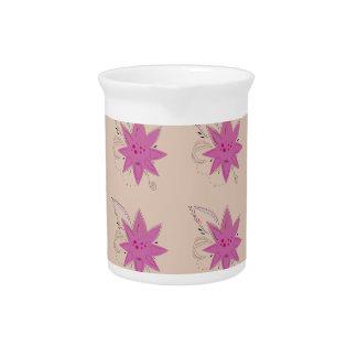 Vanilla ethno summer Lotus flowers Pitcher