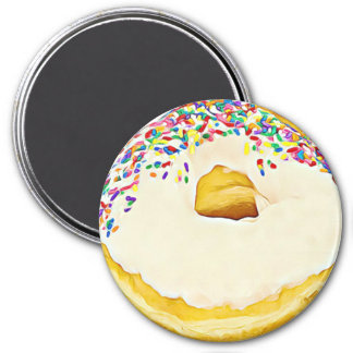 Vanilla Frosted Donut with Sprinkles Magnet