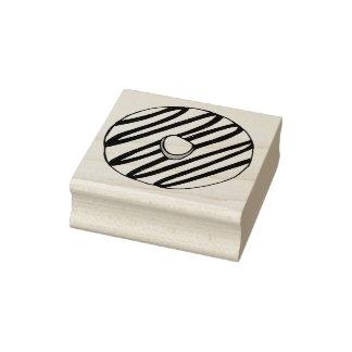 Vanilla Frosted Zebra Stripe Donut Doughnut Stamp