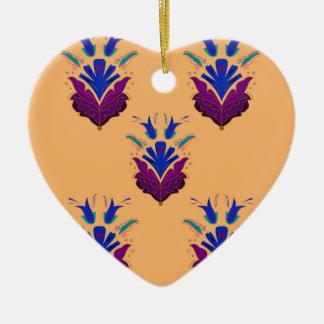 VANILLA handdrawn Ethno Flowers / Original design Ceramic Ornament