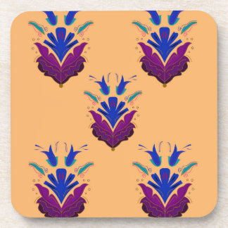 VANILLA handdrawn Ethno Flowers / Original design Coaster