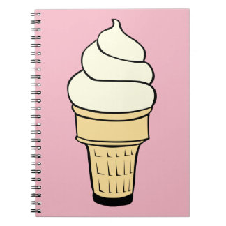 Vanilla Ice Cream Cone Notebook