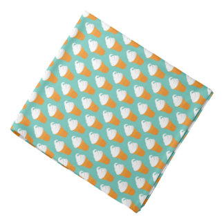 Vanilla Ice Cream Cone Pattern Bandana