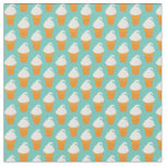 Vanilla Ice Cream Cone Pattern Fabric