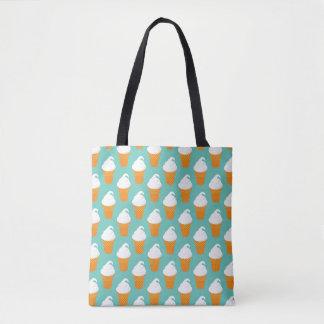 Vanilla Ice Cream Cone Pattern Tote Bag
