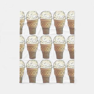 Vanilla Ice Cream Cone Scoop Sweet Foodie Blanket