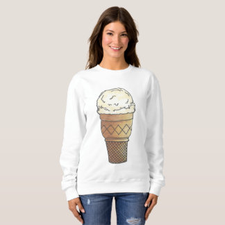 Vanilla Ice Cream Cone Scoop Sweets Dessert Foodie Sweatshirt