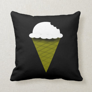 Vanilla Ice Cream Cone Throw Pillow