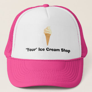 Vanilla Ice Cream Cone Trucker Hat