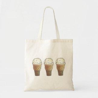 Vanilla Ice Cream Scoop Cones Foodie Tote