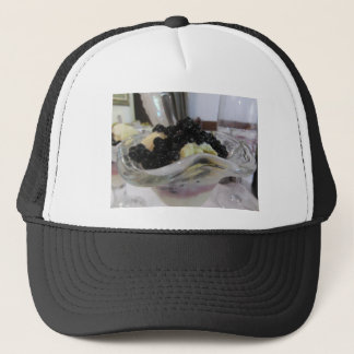 Vanilla ice cream with uncultivated bilberries trucker hat