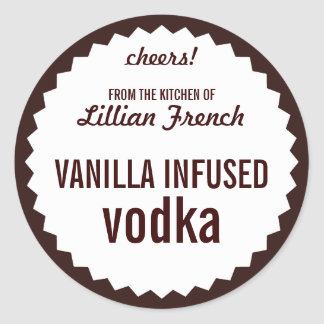 Vanilla Infused Vodka Bottle Label Template