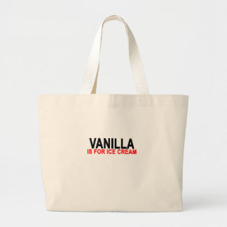 Vanilla Is For Ice Cream Women's T-Shirts.png Large Tote Bag