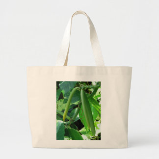 Vanilla Orchid Beans Large Tote Bag