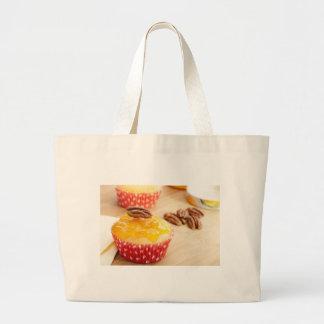 Vanilla Pecan Cupcake Large Tote Bag