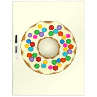 vanilla rainbow donut dry erase whiteboards