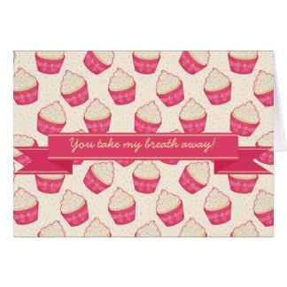 Vanilla Sprinkle Cupcake Pattern and Ribbon Card