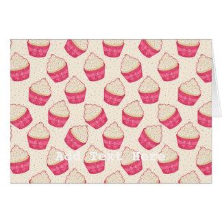 Vanilla Sprinkle Cupcake Pattern Card