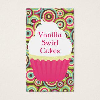 Vanilla Swirl Vertical Bizcard Business Card
