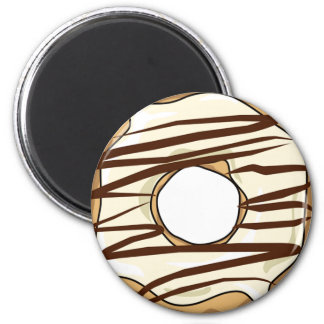 Vanillla with Chocolate Drizzle Donut Magnet