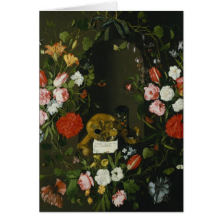 Vanitas Still Life with Flowers Card
