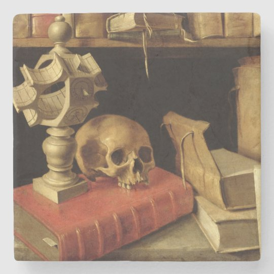 Vanitas with a Sundial, c.1626-40 Stone Coaster