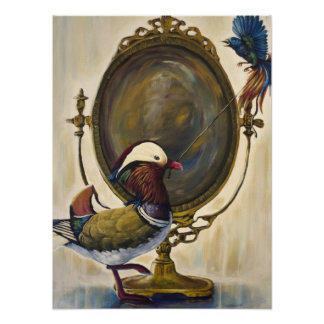 Vanity - Pop surrealism Birds Painting Poster