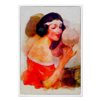 Vanity - Vintage Watercolor Print