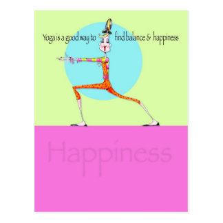 Vanity Yoga Happiness postcard