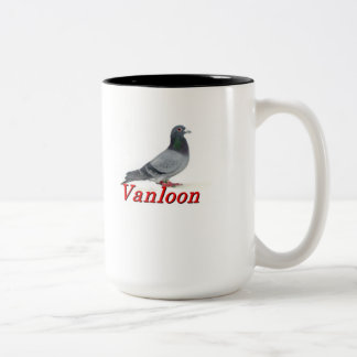 Vanloon Racing Pigeons Two-Tone Coffee Mug