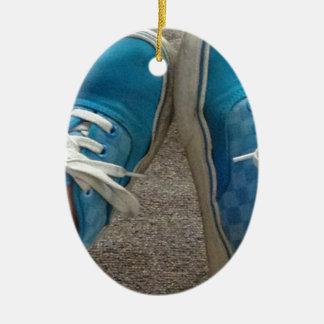 vans shoes blue ceramic ornament