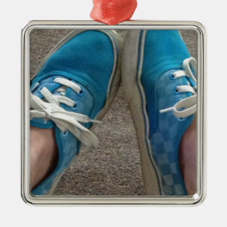 vans shoes blue metal ornament