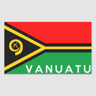 vanuatu country flag symbol name text sticker