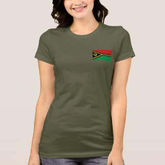 Vanuatu Flag and Map dk T-Shirt