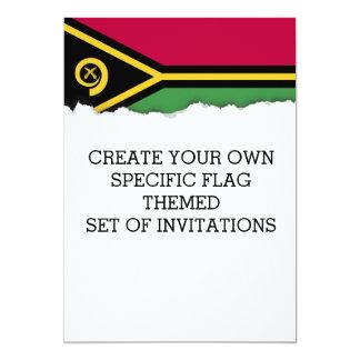 Vanuatu Flag Card