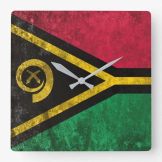 Vanuatu Square Wall Clock