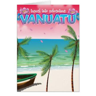 """Vanuatu """"travel into adventure"""" travel poster. card"""