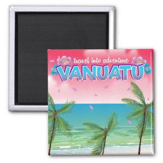 """Vanuatu """"travel into adventure"""" travel poster. magnet"""
