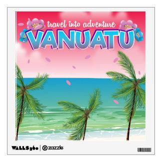 "Vanuatu ""travel into adventure"" travel poster. wall sticker"