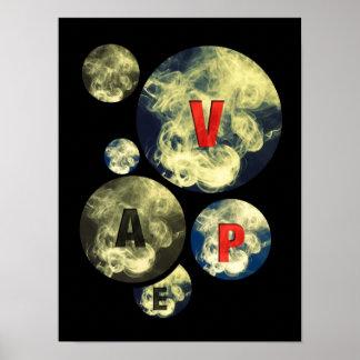 Vape Circle Smoke Clouds Poster